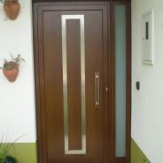 Door with wood impression