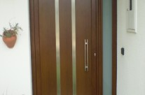 Door with wood impression