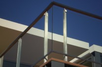 Railing stainless steel / glass II