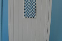Door with net