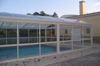 White pool cover white