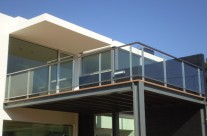 Railing stainless steel / glass