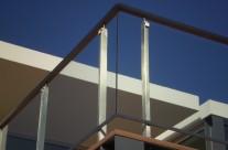 Railing stainless steel / glass II