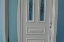 Porte avec conçu verre