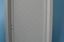 Door with diagonal pattern