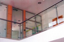 Railing with glass protection