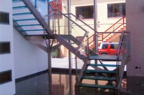 Railing with glass staircase and protection II